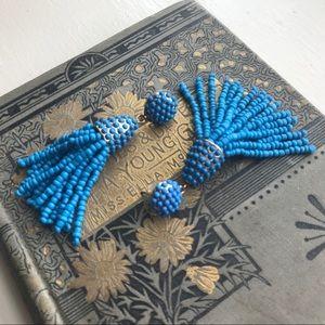Anthropologie BaubleBar Beaded Tassel Earrings